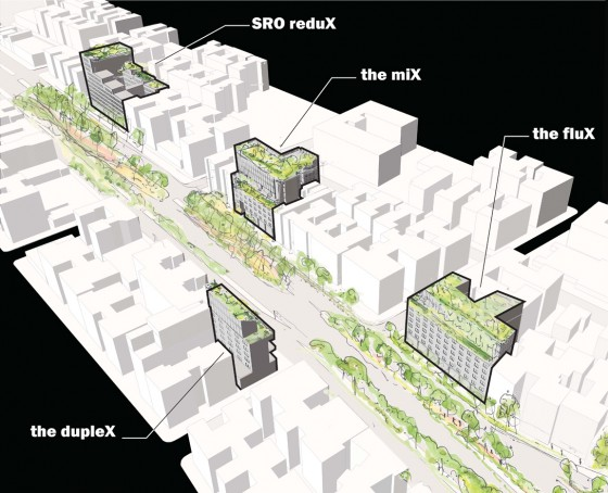 The Mix, The Flux, The Duplex, and The SRO Redux: overall view