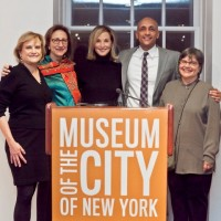 Director of MCNY, Susan Henshaw-Jones, President of the Charles H. Revson Foundation, Chair of the City Planning Commission, Amanda Burden, HPD Commissioner, Mat Wambua and CHPC Executive Director, Jerilyn Perine at the opening of the exhibition